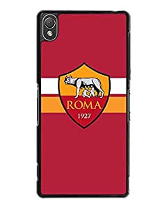 Sony Z3 Funda Case Football Club As Roma - Customized Drop Protection Dust-Proof Sony Xperia Z3 Back Funda Case Cover For Guys (Not For Z3 V / Z3 Compact)
