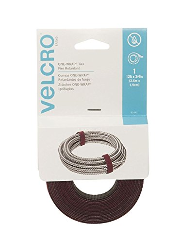 Velcro 91441 8 Pack 12ft. x 3/4in. One Wrap Roll, Cranberry (Port Cranberry)