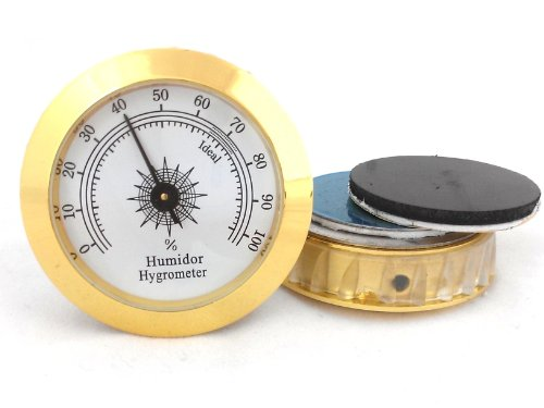 Analog Cigar Hygrometer (CiGuru CH001 Adjustable Cigar Analog Hygrometer 2'' - 1 unit)