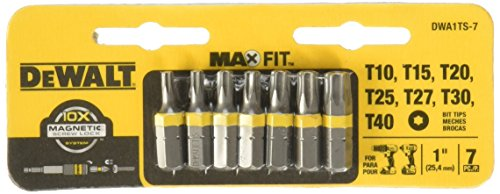1 in. Torx Security Drill Bit Tip Set (7-Piece) by DEWALT