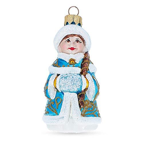 BestPysanky Snigurochka Mouth Blown Glass Christmas Ornament