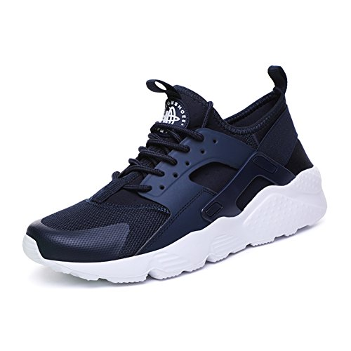 Shoes Label Casual Unisex fereshte Sport Breathable Lace Sneakers up Running Blue 37 Trainers Jogging FvwTSw