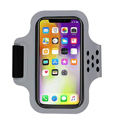 KelaSip sports armband for iPhone X/8 Galaxy S9 touchscreen sports arm with keychain reflective strip(5.5