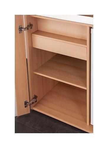 MEBASA Büro-Küche Schrankküche MK0009S - Singleküchen GÜNSTIG | {Schrankküche büro 33}