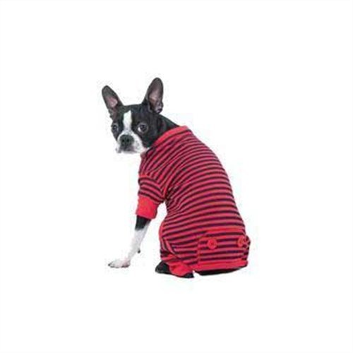 Fashion Pet Lookin Good Striped Pajamas for Dogs, Medium, Red, My Pet Supplies