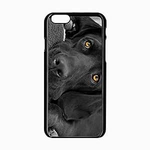 iPhone 6 Black Hardshell Case 4.7inch hound dog eyes Desin Images Protector Back Cover