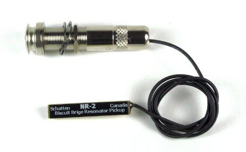 Schatten NR-2 Player Series Biscuit Bridge Resonator Pickup w/Jack