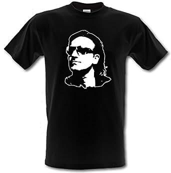 Bono U2Rock irlandés Che Guevara estilo Gildan Heavy Cotton T-Shirt todos los tamaños pequeño–XXL negro negro L