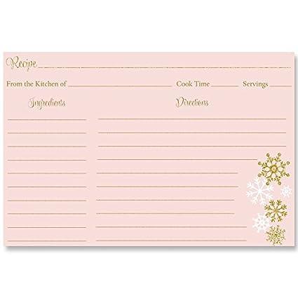 winter bridal shower recipe cards christmas cooke exchange back printed