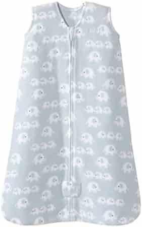 Halo Sleepsack Wearable Blanket Micro Fleece - 3 Elephants Blue, Size Med