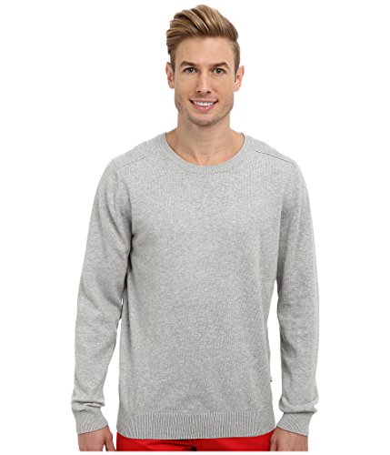 Nautica Men's Long Sleeve Crew Neck Pullover Sweater, Grey Heather, (Oregon Embroidered Long Sleeve)