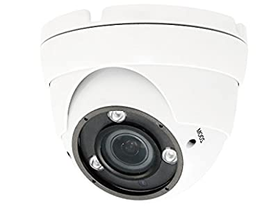 HDView/Hikvision OEM TVI CVI AHD 960H CVBS Security Camera Indoor Outdoor EXIR Infrared Night Vision Sony Sensor, for Home CCTV Surveillance 3-Axis 1080P Matrix IR Turbo Dome Camera by HDView