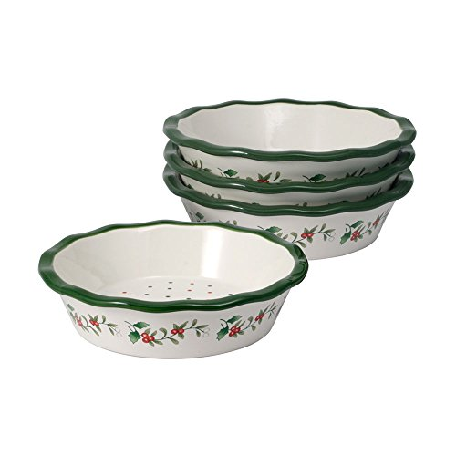 Pfaltzgraff Winterberry Set of 4 Mini Pie Plates, 6-Inch