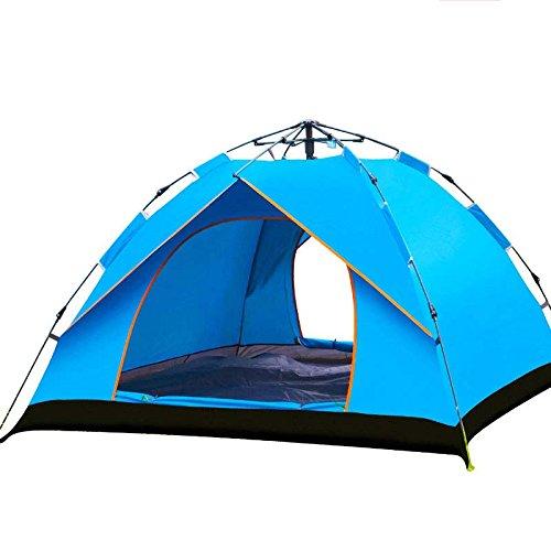 強化独創的等々シュウクラブ@ 自動テント屋外ファミリーキャンプテント (色 : 青)