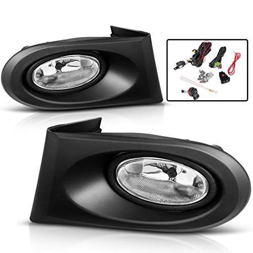 AUTOSAVER88 Fog Lights For Acura RSX 2002 2003 2004 (Real Glass Clear Lens with Bulbs & Wiring Harness) for cheap