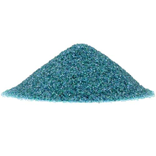 NW Wholesaler - 2 lbs Bright Fine Floral Sand for Vases, Planters and Pots, Terrariums, Aquariums, Fairy Garden, and Arts & Crafts - 13 Colors Available (Caribbean Mist)]()