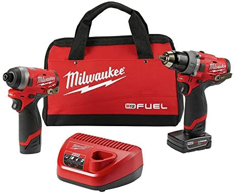 Milwaukee Electric Tools 2598-22 M12 Fuel 2 Pc Kit- 1 2 Hammer Drill 1 4 Impact