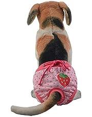 Qazwsxedc para Mascotas De algodón Lindo luz y Transpirable fisiológica del Animal doméstico de la Ropa Interior, tamaño: S (Rose Red) XY (Color : Rose Red)