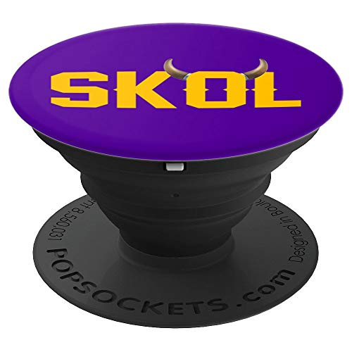 Skol Nordic Scandinavian Warrior Viking Helmet Horns Ale - PopSockets Grip and Stand for Phones and Tablets
