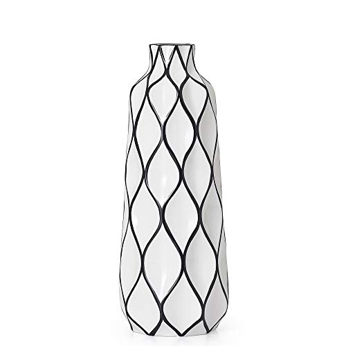 Torre & Tagus 902837C Abstract Vase, Black/White