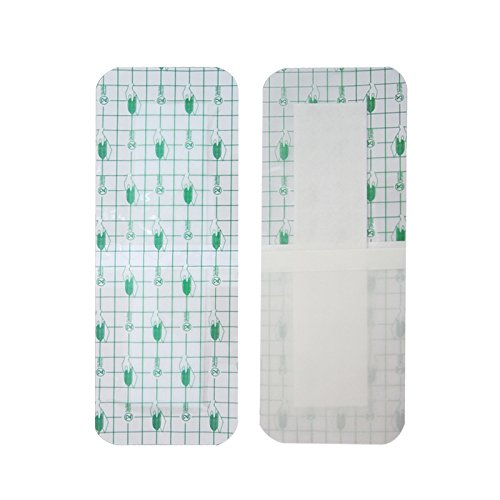 zinnor 10Pcs Film Dressing, Adhesive Wound Dressing,Waterproof Bath Posts, Self-Paste,3.9 x 9.8''(10 cm x 25 cm)