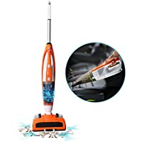 Lightweight Vacuum Cleaner, Dust busters cordless vac with Detachable Hand Vacuum for Home and Car, Lightweight Rechargeable Bagless Stick and Handheld Vacuum Swivel Mop Floor Cleaner (Orange)
