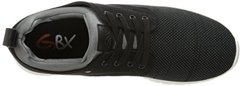 Gbx Hombres Arco Oxford Negro / Gris