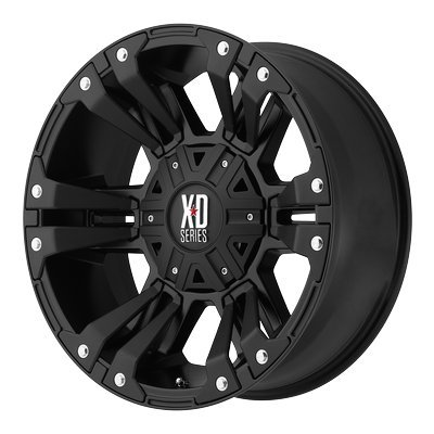 Yukon Laser Bore (KMC XD XD822 Monster II Satin Black 17x9 5x4.5 / 5x5 18mm (XD82279054718))