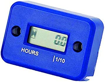 Waterproof Gaso Engine Inductive Hour Meter For Motorcycle Snowmobil,Motocross Nine Rong NR-HM006 BLUE