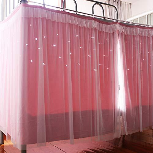 BULUSIJNSK Student Bett Vorhang ausgehöhlten Sternen Doppel Prinzessin Princess Ins Wind Universität Schlafsaal oberen und unteren Schlafsaal