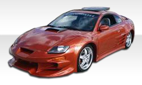 2000-2005 Mitsubishi Eclipse Duraflex Vader Body Kit - 4 Piece - Includes Vader Front Bumper Cover (102328) Bomber Rear Bumper Cover (100116) Bomber Side Skirts Rocker Panels (100117)