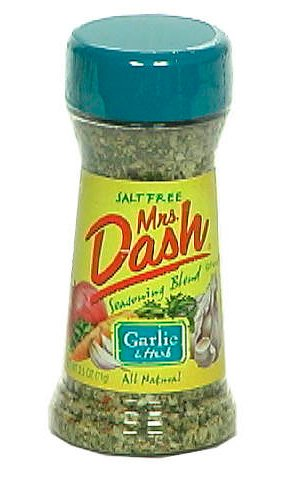 Mrs. Dash Garlic and Herb Seasoning Blend, Salt-Free, 2.5-Ounce Shaker (Pack of 6) by Mrs. Dash