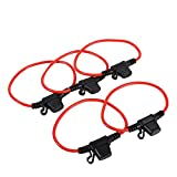 5x Car Truck In Line Blade Fuse Holder Mini Size Waterproof Splash Proof 12V 30A Copper Wire