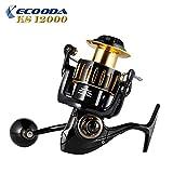 Cheap 2018 ECOODA Knight Heavy Duty Metal Spinning Jigging Fishing Reels Saltwater Waterproof Body Boat Trolling Fishing Reel KS12000