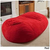 Christopher Knight Larson Faux Micro-fiber Suede 8 Foot Cozy Comfortable Large Lounger Bean Bag (Red)