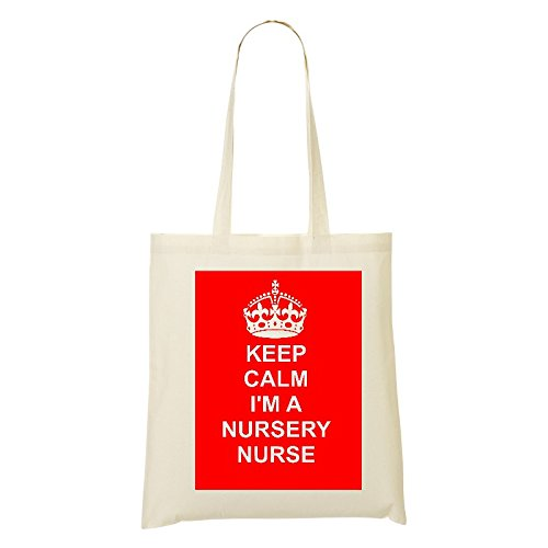 Shoulder bag CAREER PINK COTTON Cotton on BAG nursery nurse Design Natural Tote JOB 6q7w1wvnxa