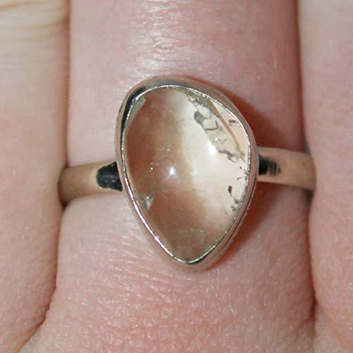 Heliodor ring, yellow beryl ring, 15x10x5 mm