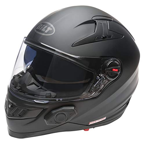 Bilt Techno 2.0 Bluetooth Helmet (M, Matte Black)