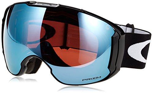 Oakley Men's Airbrake XL Snow Goggles, Jet Black, Prizm Sapphire Iridium, Extra Large