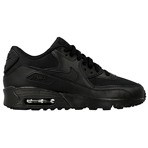 Nike Air Max 90 Mesh (GS) Kids Sneaker Black 833418 001, Size:37.5 by NIKE