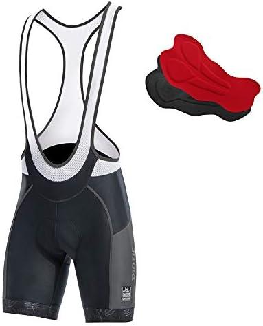 Misure: M L XL 2XL con fondello Imbottito Colore: Nero Santic Pantaloncini da Ciclismo da Uomo in Coolmax
