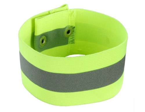 Ergodyne GloWear 8001 High Visibility Reflective Arm/Leg Band- Snap Closure, Lime, ()