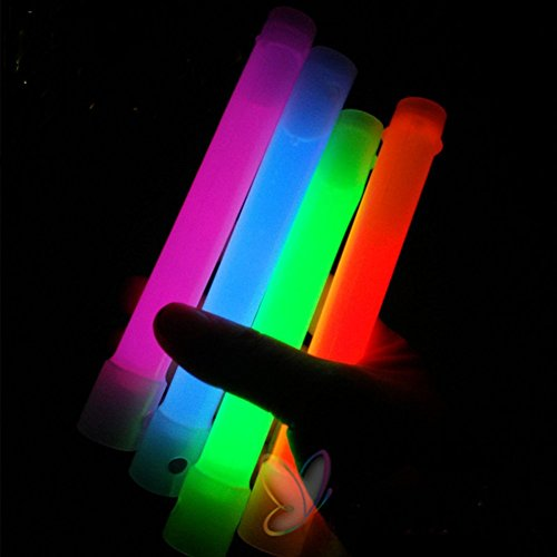 Glow Stick Light Up Toy Glowing in the Dark for Parties Festival Holiday Christmas Adults and Kids Favorite 6.5 Inch 6 Colors - Costumes Perry Katy Diy