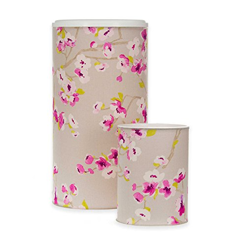 Hamper and Wastebasket set, with Velcro Closure and Gorgeous Cherry Blossoms ()