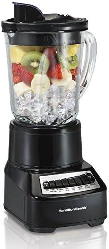 Hamilton Beach Wave Crusher 54220 Multi-Function Blender with 14 Speeds 40 oz Glass Jar, Black Renewed
