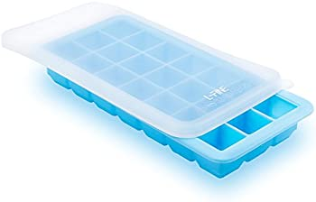 L-Fine Silicone Ice Cube Trays with Lids 21 Large Ice Cube