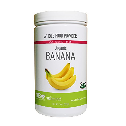 - Nubeleaf Banana Powder - Non-GMO, Gluten-Free, Organic, Vegan Source of Fiber & Vitamins A, C, B6- Single-Ingredient Nutrient Rich Superfood for Cooking, Baking, Smoothies (14oz)