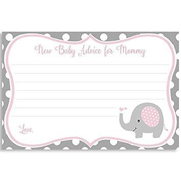 Lista De Baby Shower Nino.Amazon Com Advice For Mom Elephant Baby Shower Advice