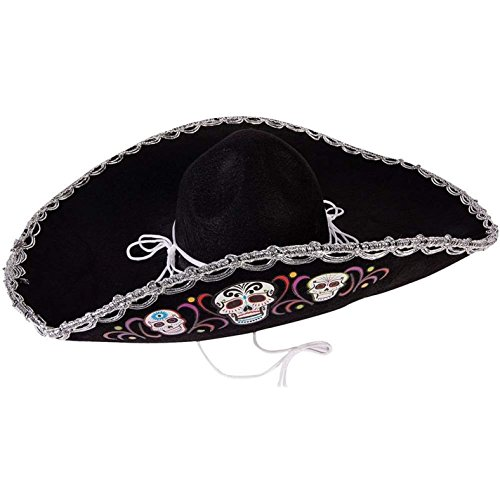 Day of the Dead Sugar Skull Deluxe (Day Of The Dead Hat)