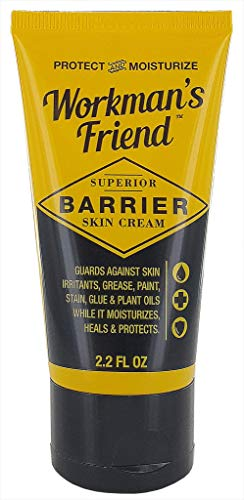 Workman's Friend Barrier Working Hand Cream | Moisturizes Skin & Provides Superior Protection from Grease, Glue, Dirt, Paint and Oils - 2.2 oz